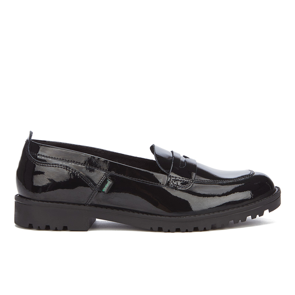 kickers womens lachly patent loafers black womens