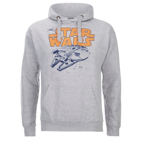 Star Wars Men's Retro Falcon Hoody - Grey