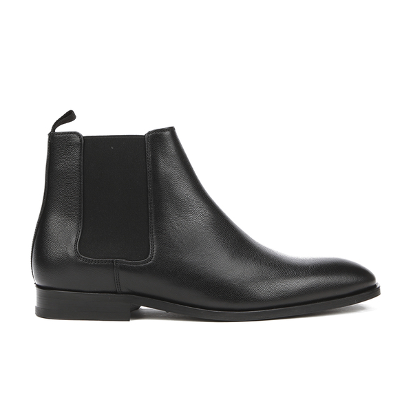 PS by Paul Smith Men's Gerald Grain Leather Chelsea Boots - Black Oxford Dax Grain