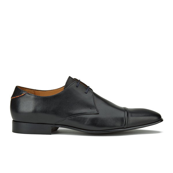 PS by Paul Smith Men's Robin Leather Toe Cap Derby Shoes - Black Oxford