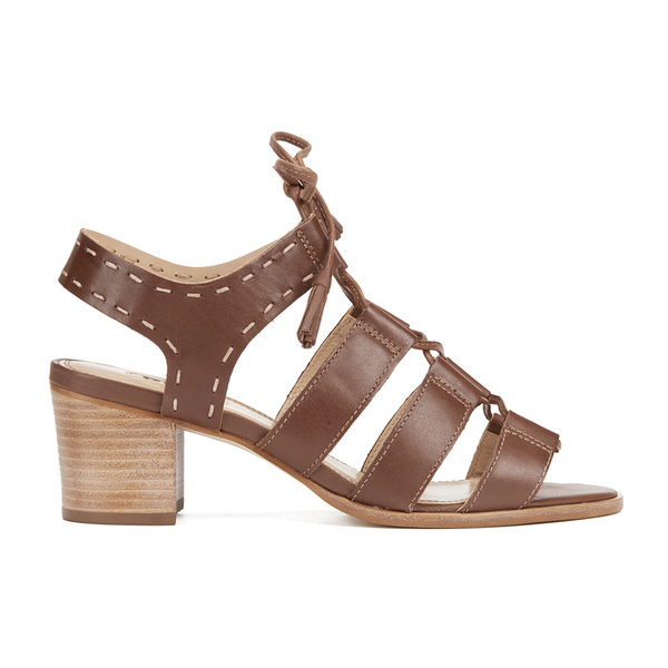 Dune Women's Ivanna Leather Strappy Heeled Sandals - Tan