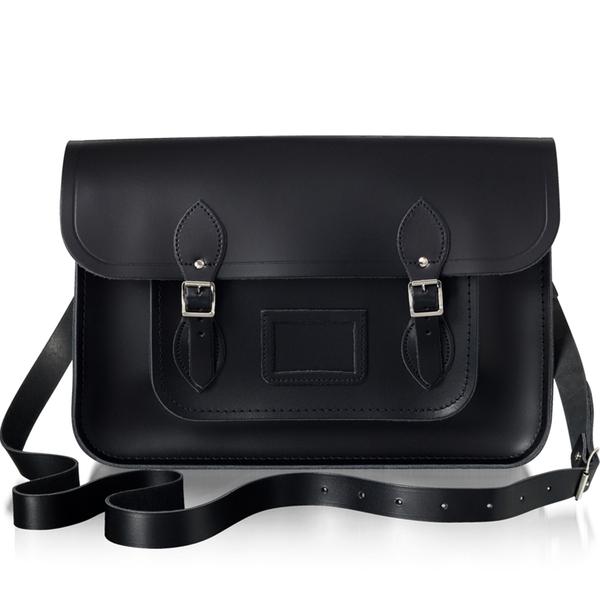 The Cambridge Satchel Company Women's 15 Inch Leather Satchel - Black