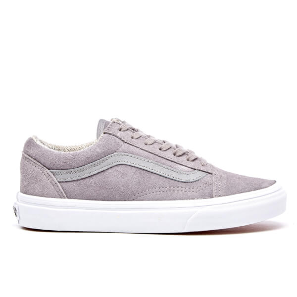 Vans Women s Old Skool Suede Woven Trainers - Gray True White  Image 1 1f44fb22dd