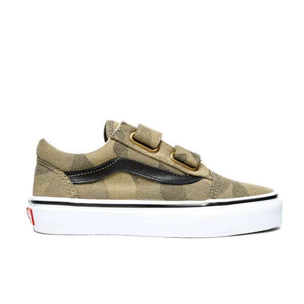 Vans Kids' Old Skool V Trainers - Raven/True White
