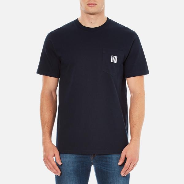 Carhartt Men's Short Sleeve Slate Pocket T-Shirt - Navy
