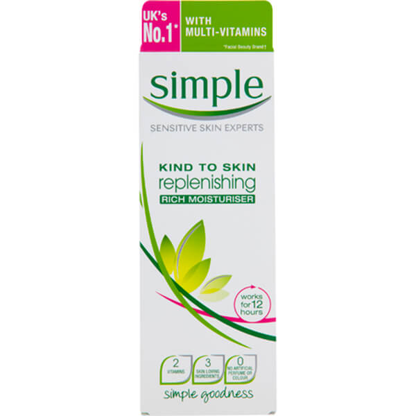 Crema Hidratante Rica Regeneradora de Simple 125 ml