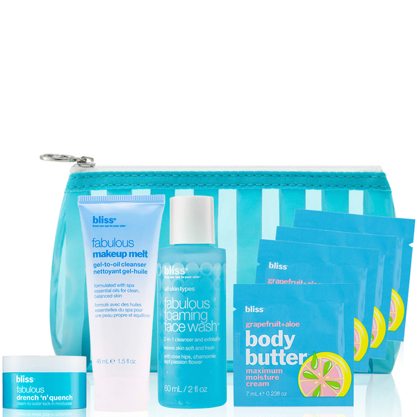 bliss Fabulous Travel 必需品 Set (价值26.00欧元)