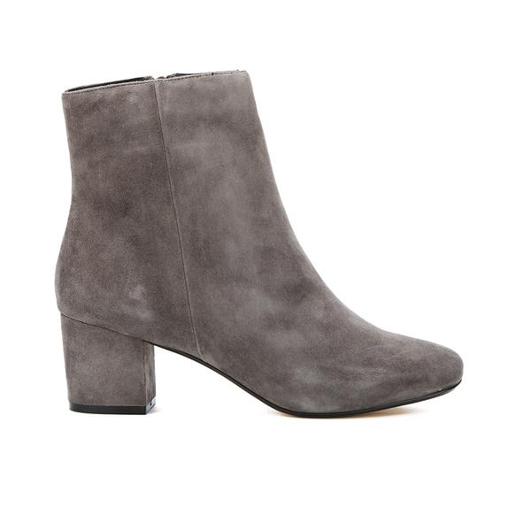 Dune Women's Pebble Mid Heeled Suede Boots - Grey