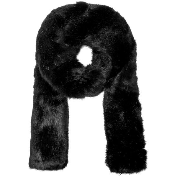 Carven Women's Long Fur Scarf - Black