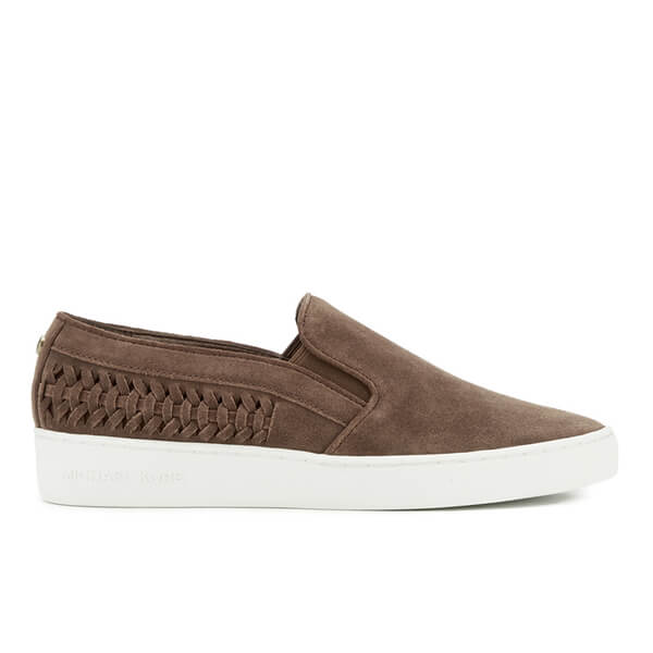 MICHAEL MICHAEL KORS Women's Stevie Suede Slip-On Trainers - Dark Caramel
