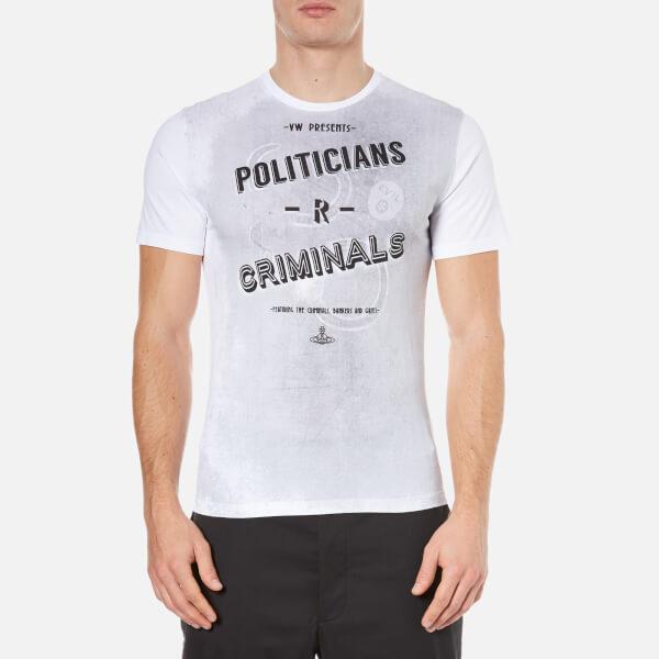 Vivienne Westwood MAN Men's Politicians-R-Criminals T-Shirt - White