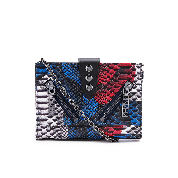 KENZO Women's Kalifornia Wallet on a Chain Crossbody - Blue Snake