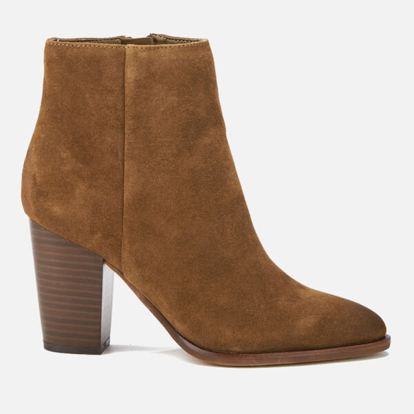 Sam Edelman Women's Blake Suede Heeled Ankle Boots - Woodland Brown