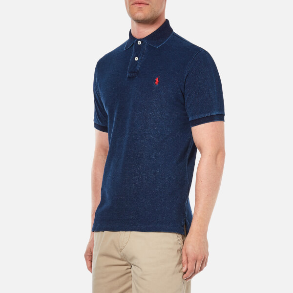 1c82f490910 ... germany polo ralph lauren mens custom fit polo shirt dark indigo image  2 36b9a 5fb16