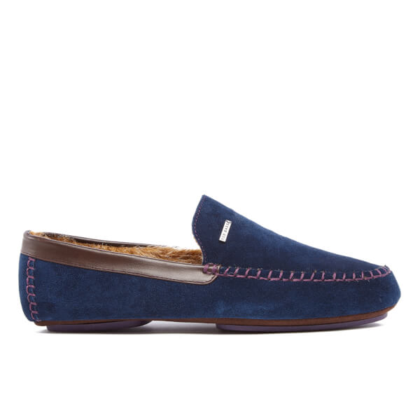 Ted Baker Men's Moriss Suede Moccasin Slippers - Dark Blue