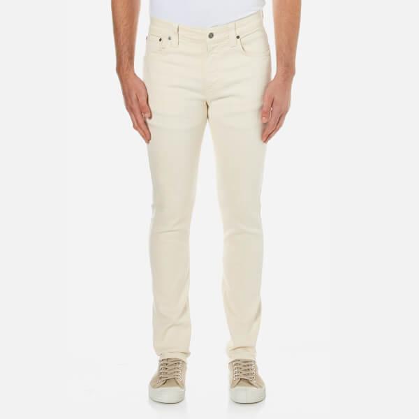 Nudie Jeans Men's Lean Dean Slim Jeans - Ecru Twill