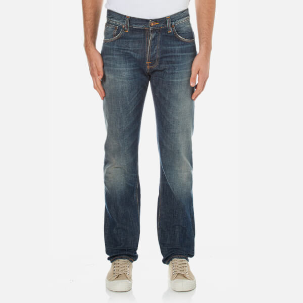 Nudie Jean's Men's Steady Eddie Straight Jeans - James Replica