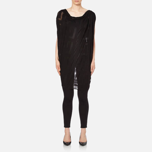 Vivienne Westwood Anglomania Women's Greek Key Devore Fortune Tunic - Black