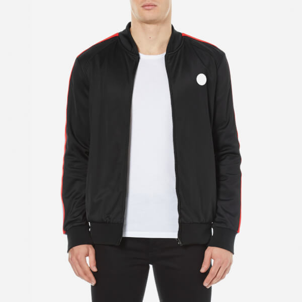 MSGM Men's Full Zip Side Stripe Tracksuit Top - Black