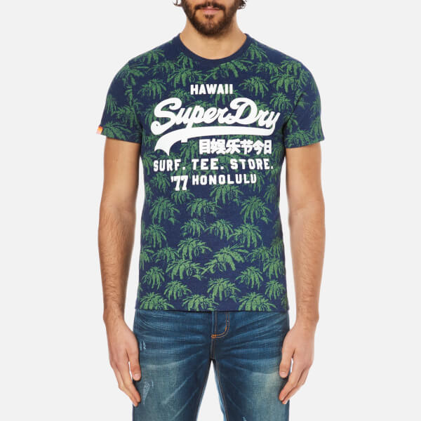 Superdry men 39 s shirt shop surf t shirt princeton blue for Surf shop tee shirts
