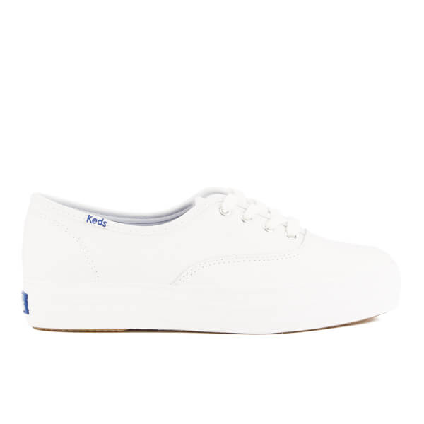 Keds Women's Triple Leather Trainers - White