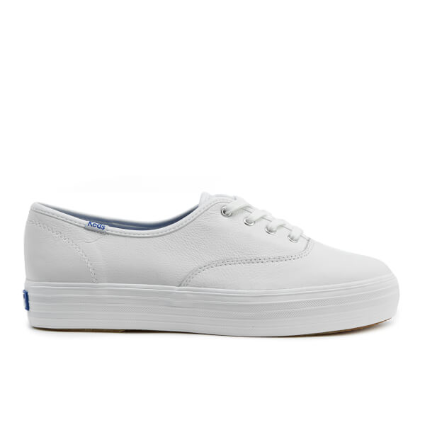 87d133cff8e Keds Women s Triple Leather Trainers - White  Image 1