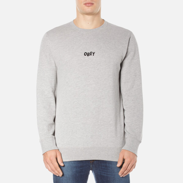OBEY Clothing Men's Jumble Bars Sweatshirt - Heather Grey