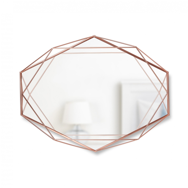 Umbra Prisma Geometric Mirror Copper Homeware TheHutcom