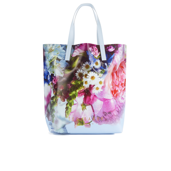 Ted Baker Womenu0026#39;s Nellee Floral Focus Large Canvas Tote Bag - Powder Blue