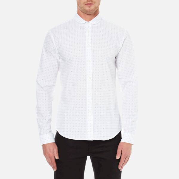 Carven Men's All Over Print Long Sleeve Shirt - Blanc