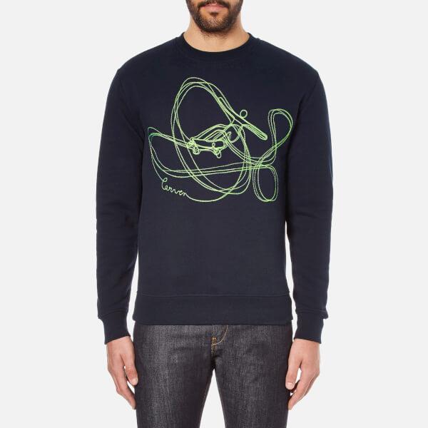 Carven Men's Neon Print Sweatshirt - Marine