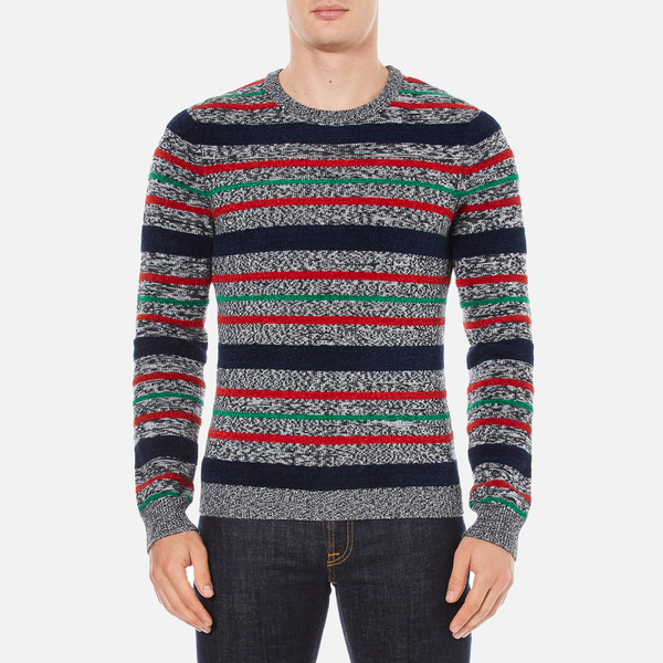 Carven Men's Striped Crew Neck Jumper - Multicolore