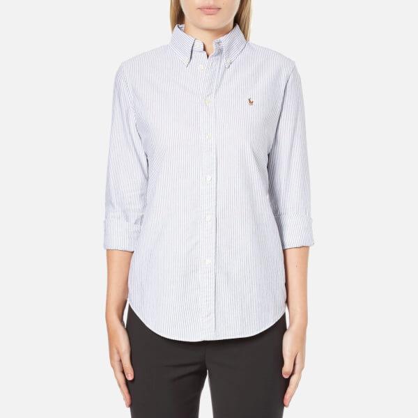 Polo Ralph Lauren Women's Harper Shirt - Grey Stripe
