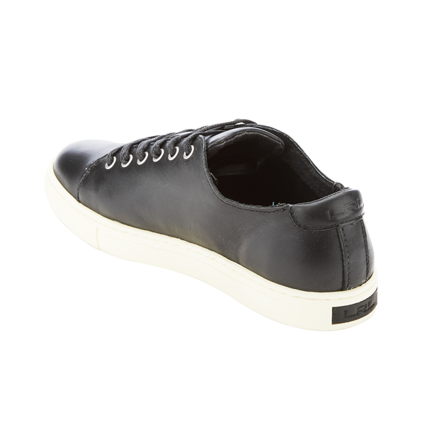 Lauren Ralph Lauren Women's Waverly Leather Trainers Black: Image 4