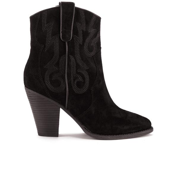 Ash Women's Joe Suede Heeled Boots - Black