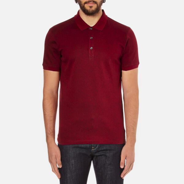 HUGO Men's Dinello Jacquard Polo Shirt - Dark Red