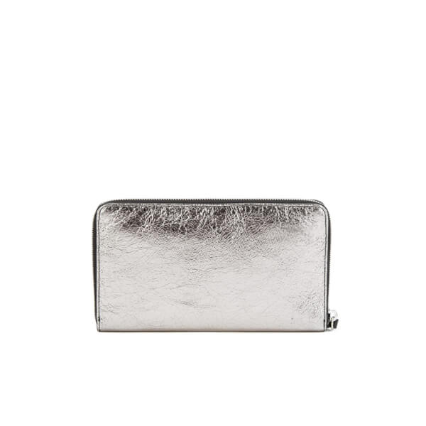 Mcq Alexander Mcqueen Woman Embossed Cracked-leather Coin Purse Black Size Alexander McQueen 3uoiJCbQbK