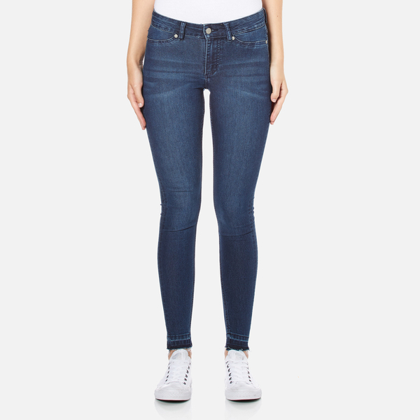 Cheap Monday Women's Mid Spray Fall Jeans - Blue Clothing | TheHut.com
