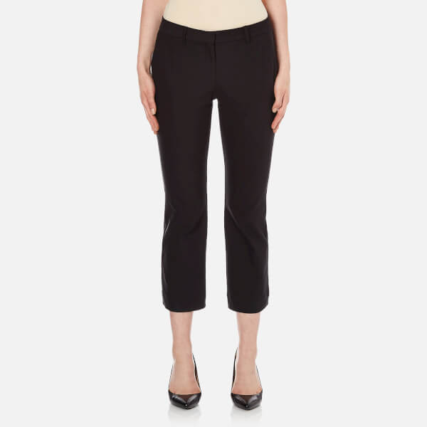 Theory Women's Simonne Admiral Crepe Light Trousers - Black
