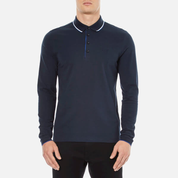 BOSS Green Men's C-Tivoli Long Sleeve Polo Shirt - Blue