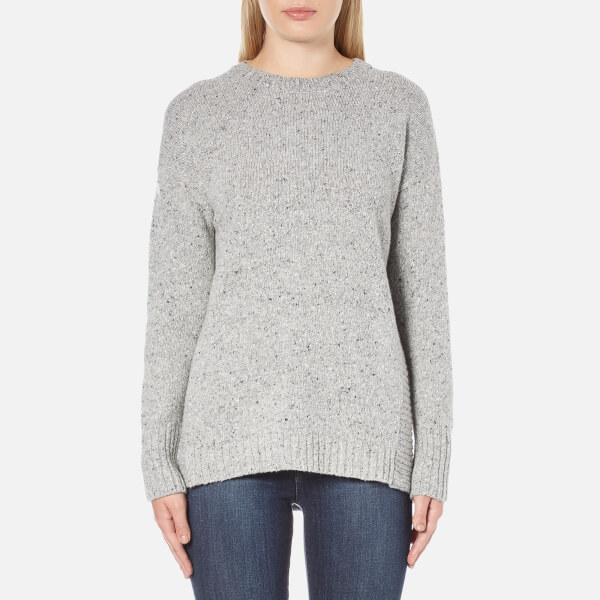 Barbour Women's Cloudy Crew Neck Jumper - Light Grey Marl