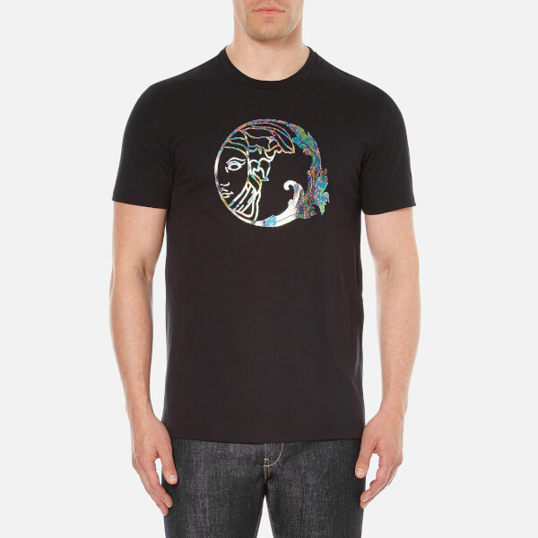 Versace Collection Men s Medusa Printed T-Shirt - Black - Free UK ... 834d822f817
