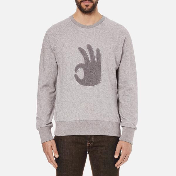 rag & bone Men's Okay Sweatshirt - Grey Heather