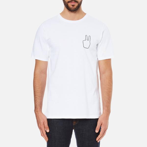 rag & bone Men's Peace! Embroidery T-Shirt - White