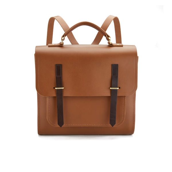 The Cambridge Satchel Company Men's Bridge Closure Backpack - Vintage/Dark Brown