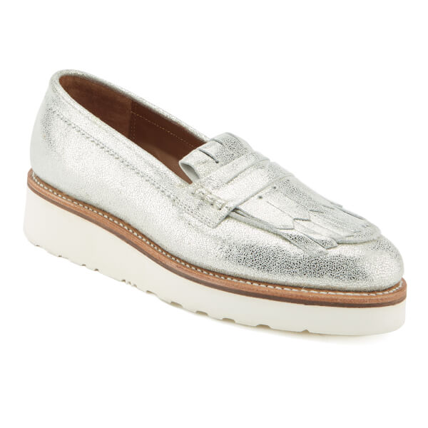 d1fac563698 Grenson Women s Juno Sparkle Frill Loafers - Silver  Image 2