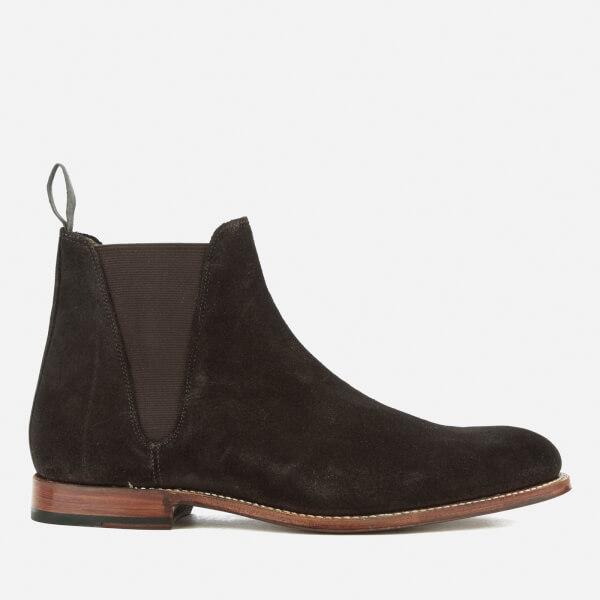GRENSON Men's Nolan Suede Chelsea Boots - Chocolate - UK 7 ylLIH0Jvcg
