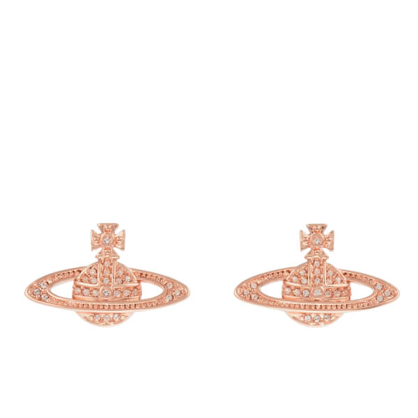 Vivienne Westwood Jewellery Women's Mini Bas Relief Pierced Earrings - Silk Crystals
