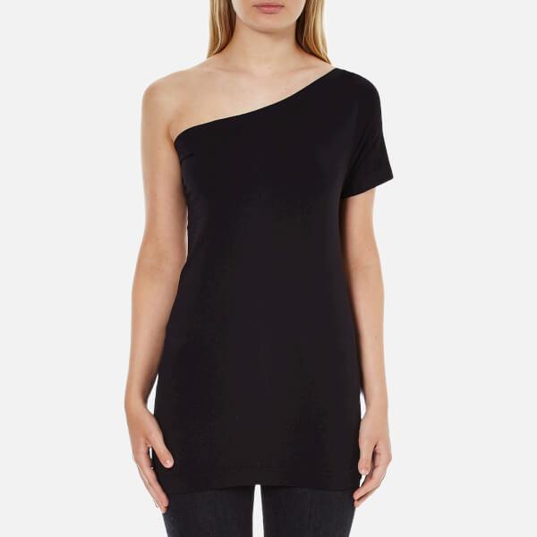 Helmut Lang Women's Seamless Jersey Asymmetrical Top - Black