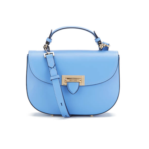 Aspinal of London Women's Letterbox Saddle Bag - Forget Me Not